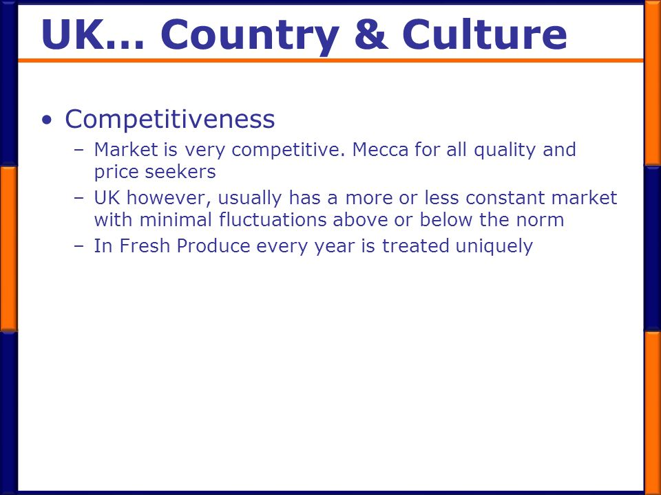 UK… Country & Culture Competitiveness