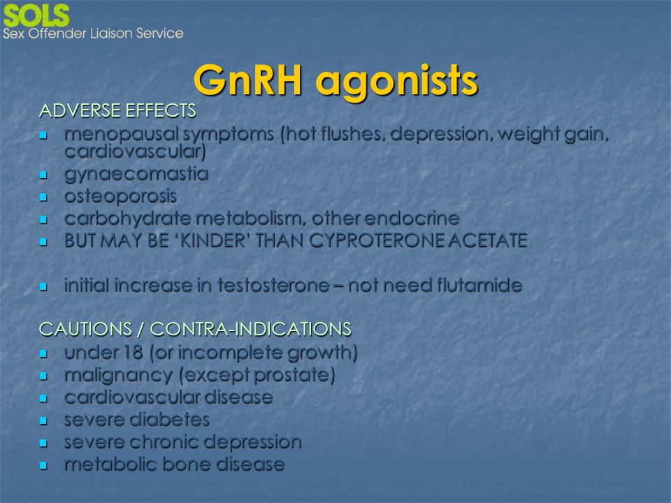GnRH agonists ADVERSE EFFECTS