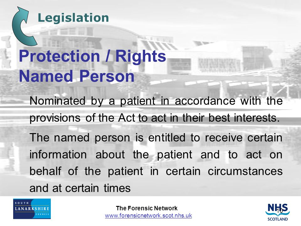 Protection / Rights Named Person