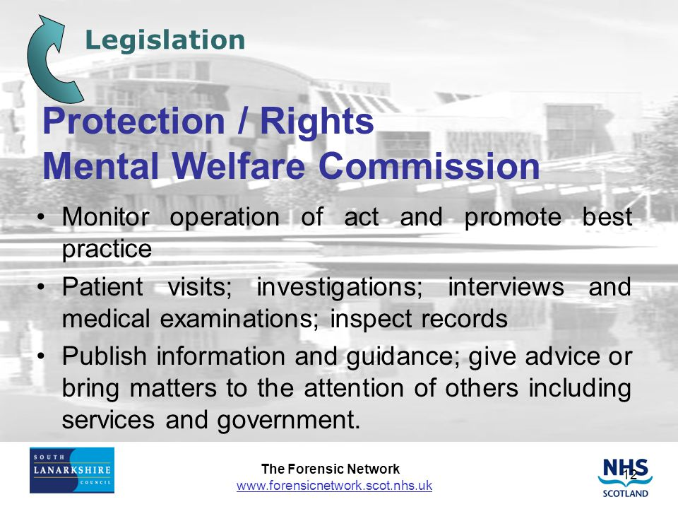 Protection / Rights Mental Welfare Commission