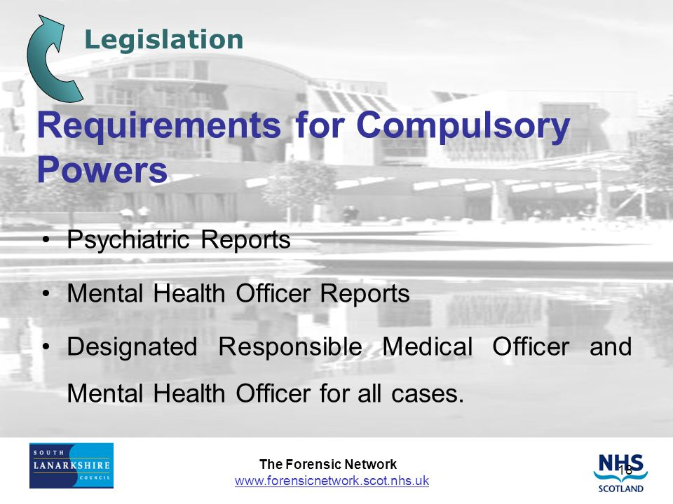 Requirements for Compulsory Powers