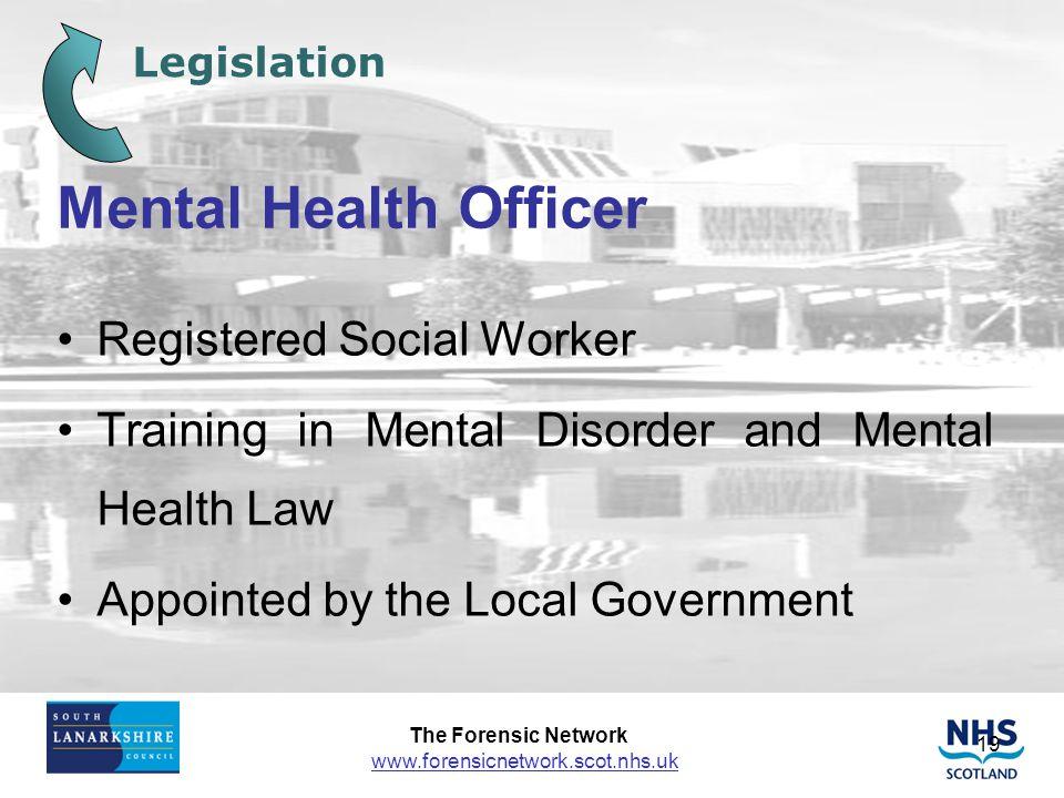 Mental Health Officer Registered Social Worker