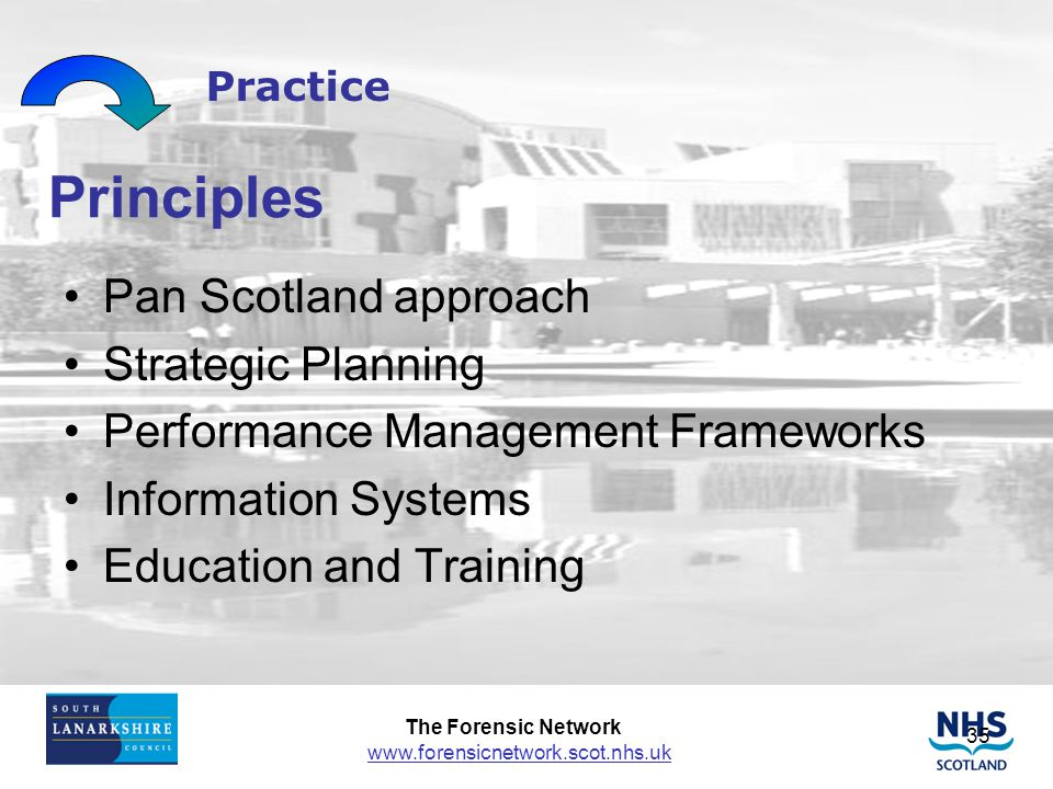 Principles Pan Scotland approach Strategic Planning