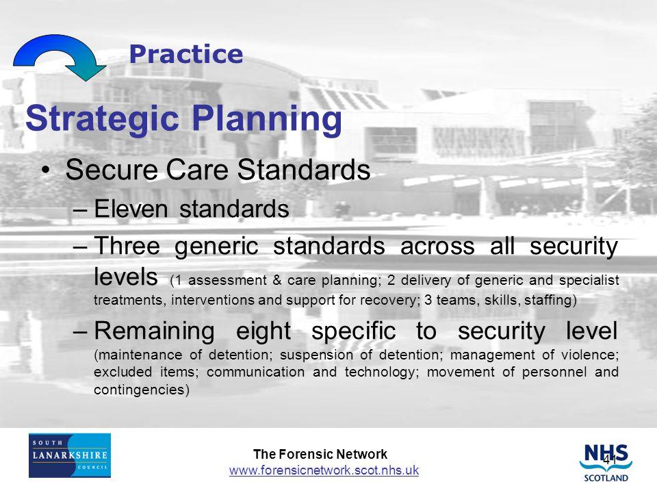 Strategic Planning Secure Care Standards Practice Eleven standards