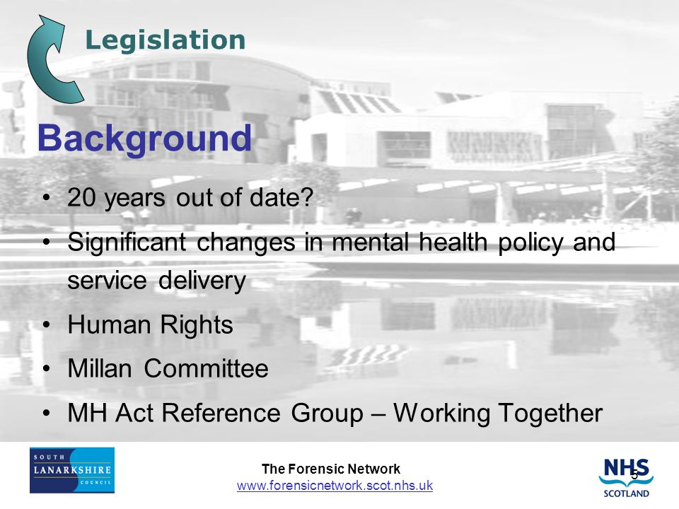 Background Legislation 20 years out of date