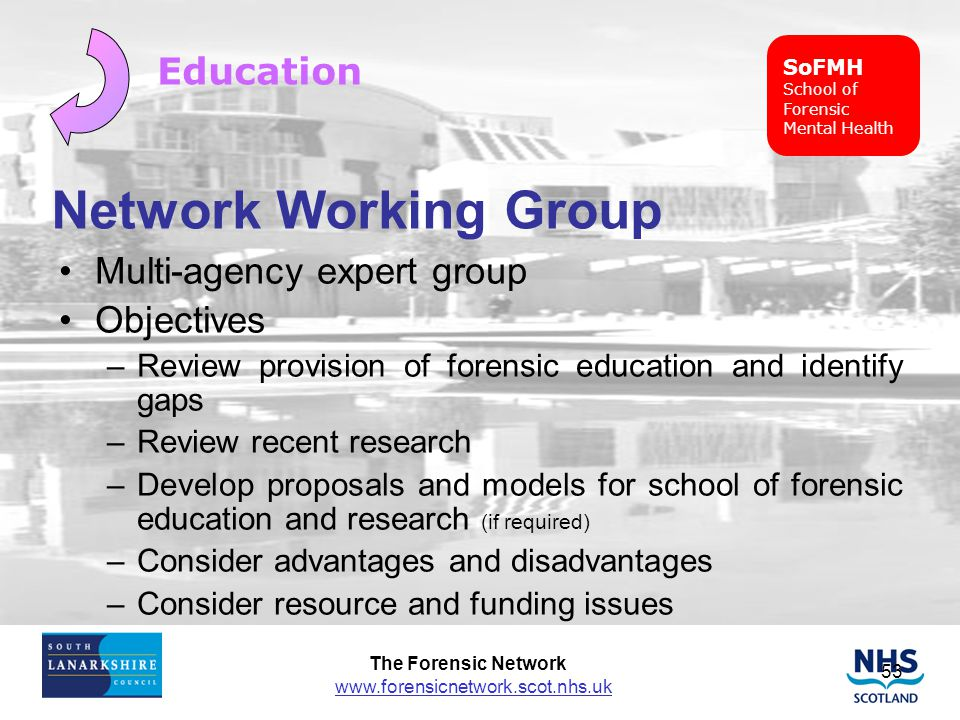 Network Working Group Education Multi-agency expert group Objectives