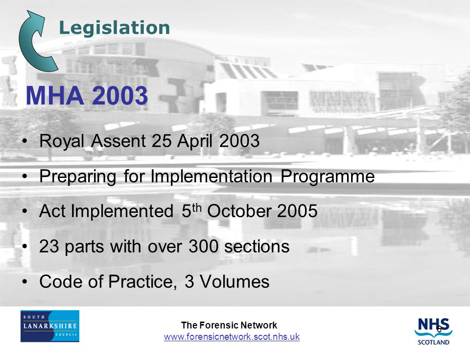 MHA 2003 Legislation Royal Assent 25 April 2003