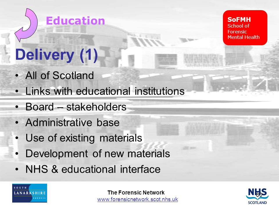 Delivery (1) Education All of Scotland