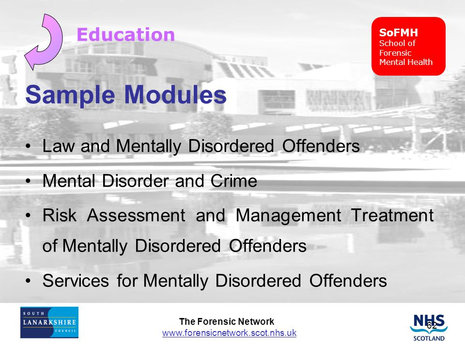 Sample Modules Education Law and Mentally Disordered Offenders