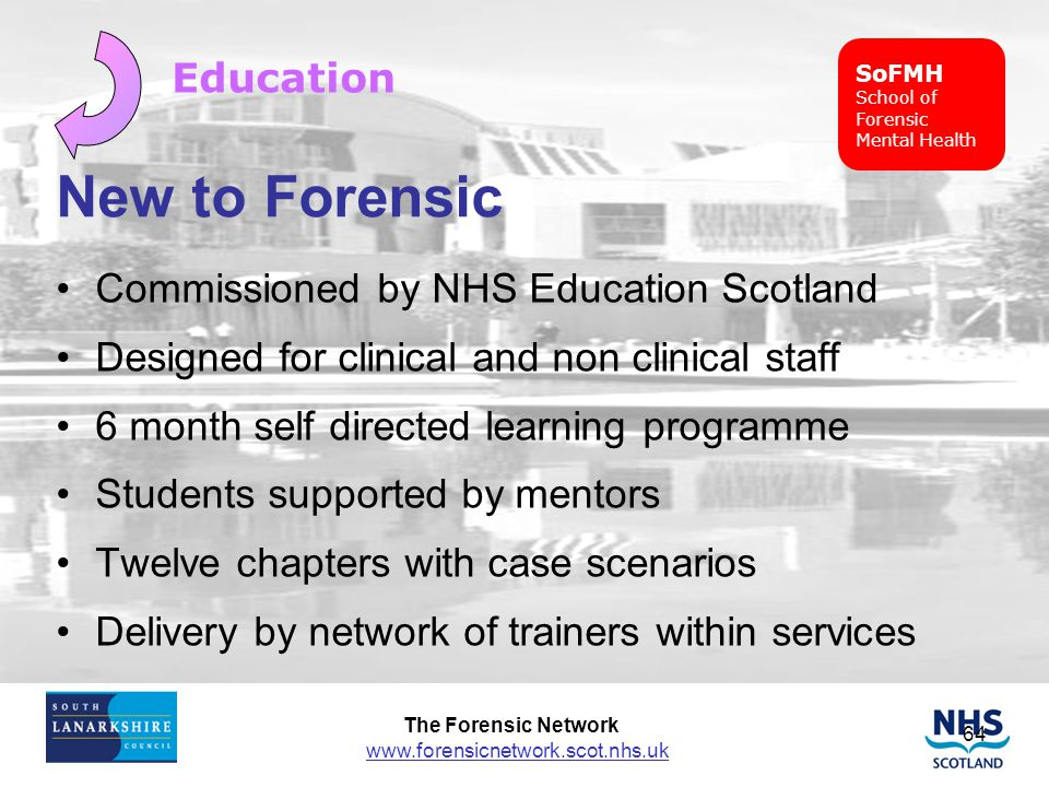 New to Forensic Education Commissioned by NHS Education Scotland