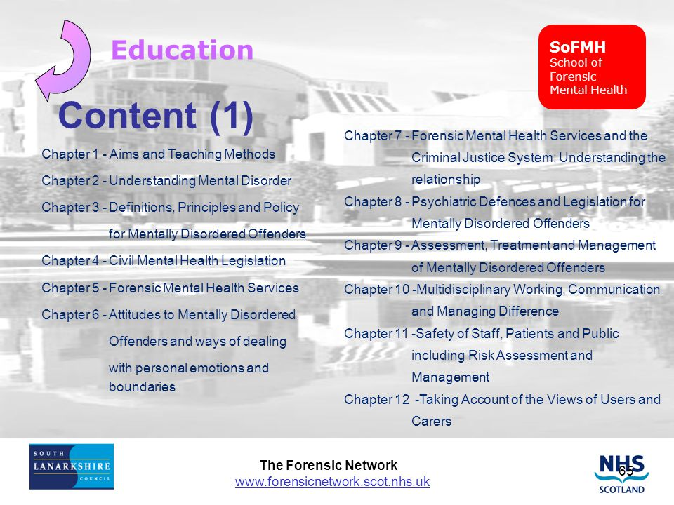 Content (1) Education SoFMH