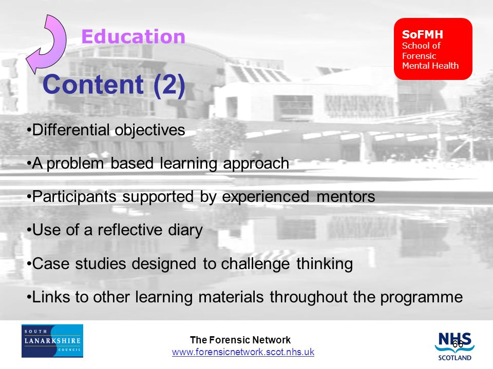Content (2) Education Differential objectives