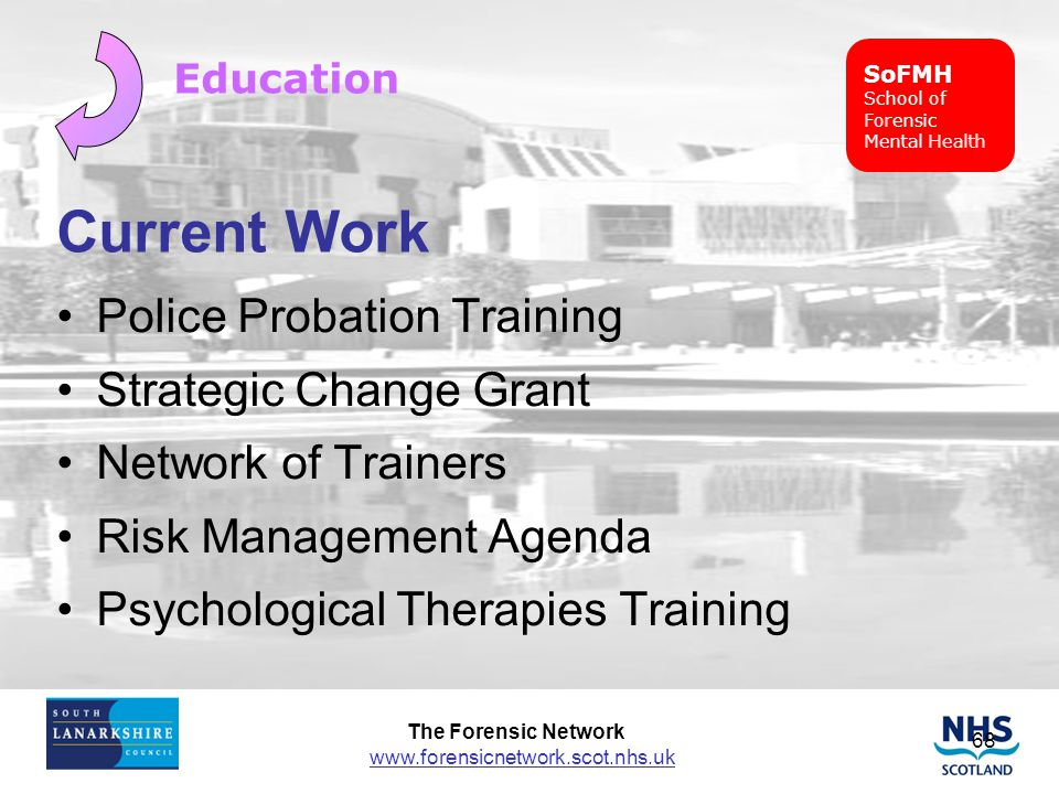Current Work Police Probation Training Strategic Change Grant