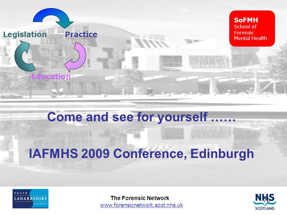 Come and see for yourself …… IAFMHS 2009 Conference, Edinburgh