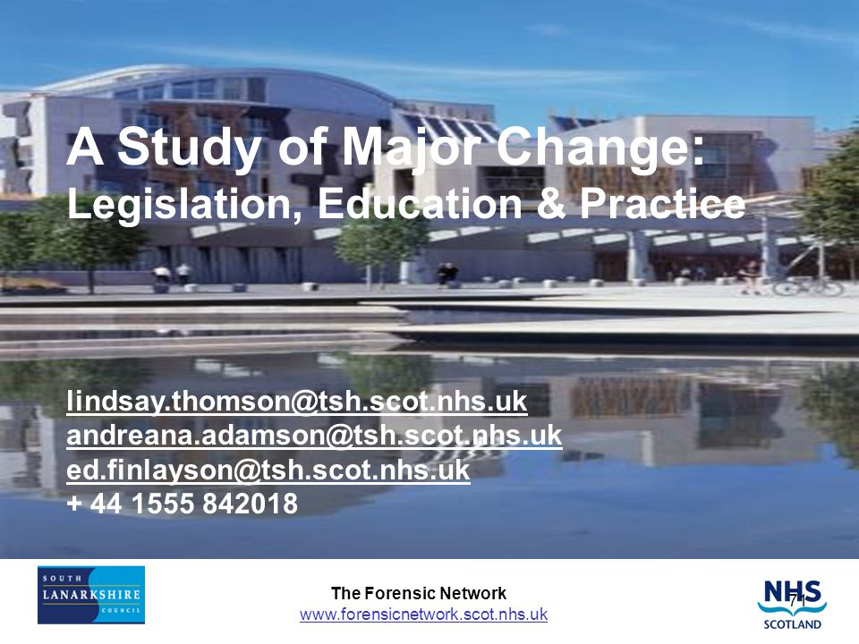 A Study of Major Change: Legislation, Education & Practice lindsay