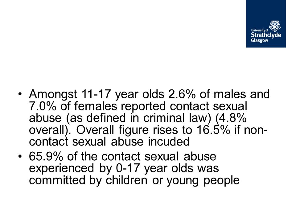 Amongst 11-17 year olds 2. 6% of males and 7