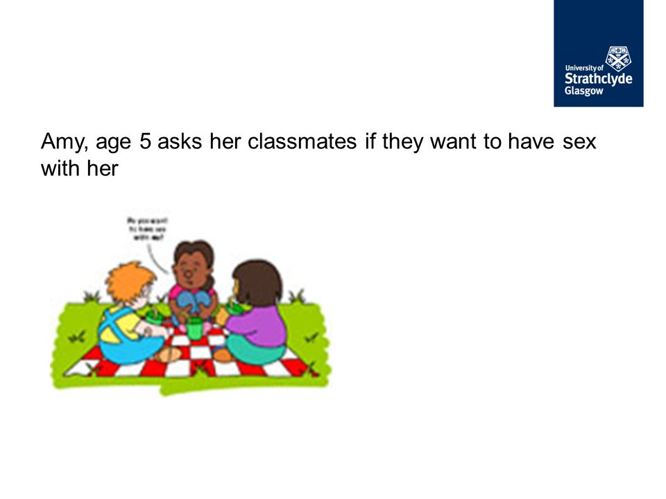 Amy, age 5 asks her classmates if they want to have sex with her