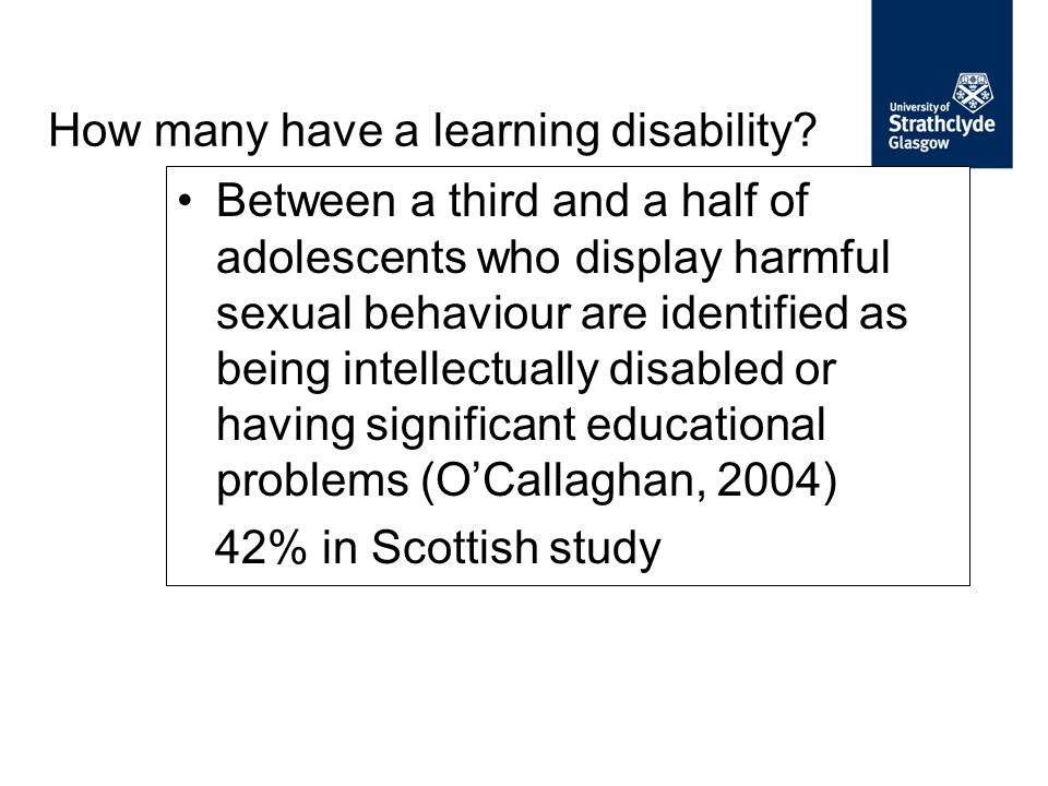 How many have a learning disability