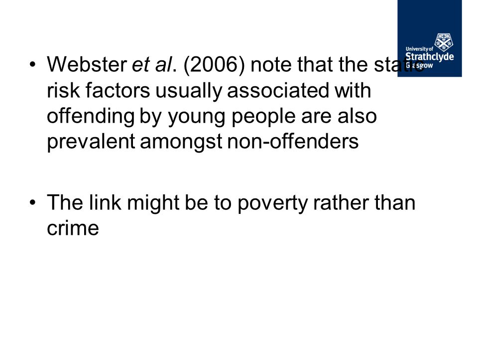 The link might be to poverty rather than crime