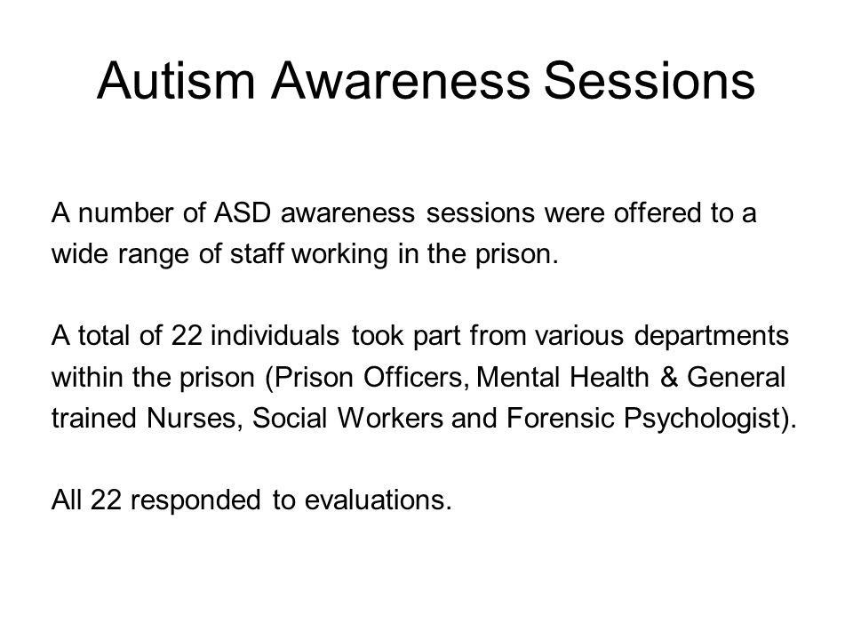 Autism Awareness Sessions