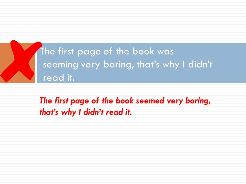 The first page of the book was seeming very boring, that's why I didn't read it.