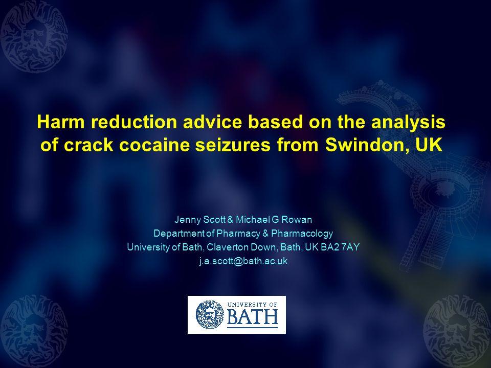 Harm reduction advice based on the analysis of crack cocaine seizures from Swindon, UK