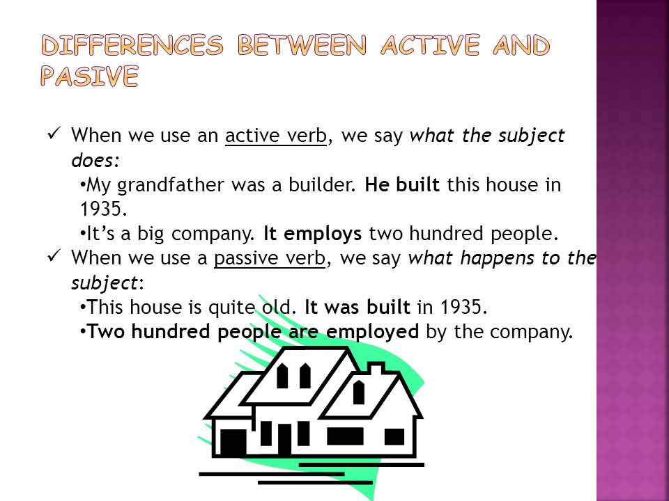 DIFFERENCES BETWEEN ACTIVE AND PASIVE