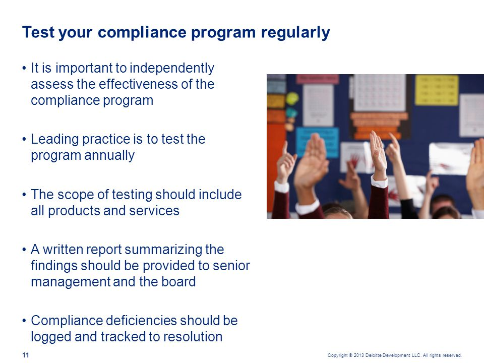 Most common compliance weaknesses