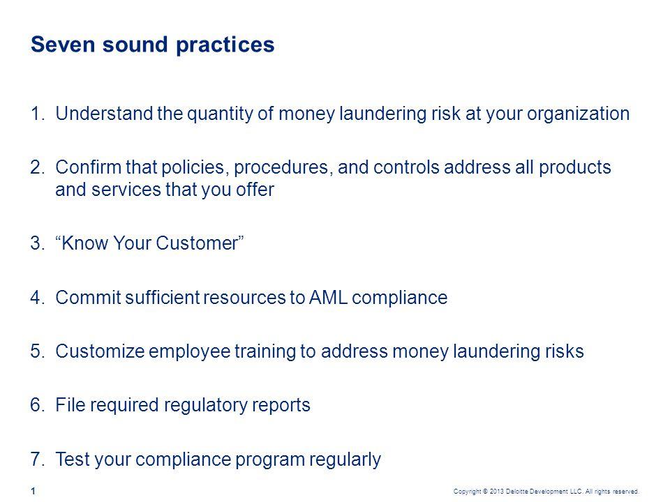 Understand your money laundering risk