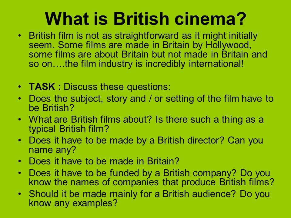 What is British cinema