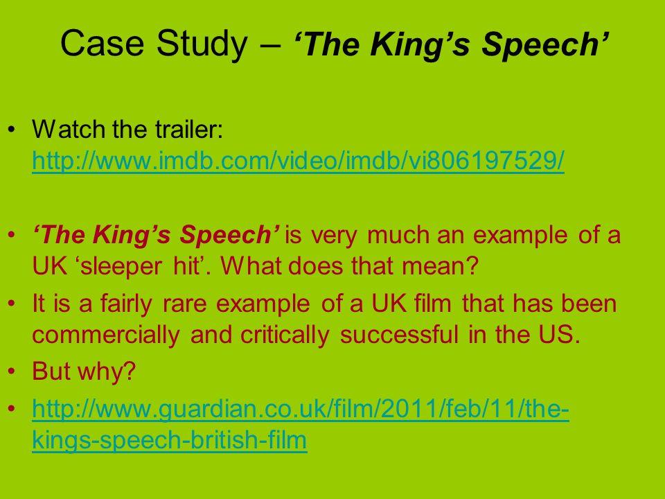 Case Study – 'The King's Speech'
