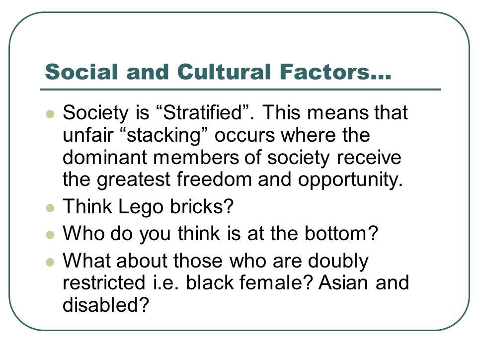 Social and Cultural Factors…