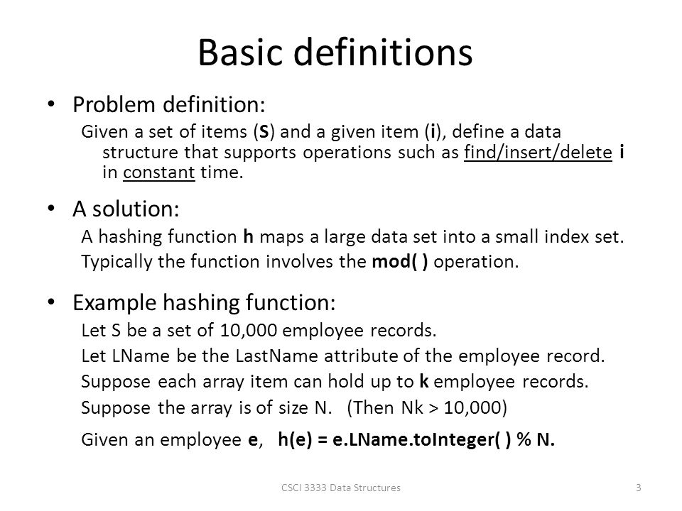 Basic definitions Problem definition: A solution: