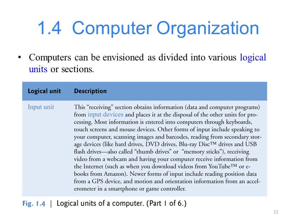 1.4 Computer Organization