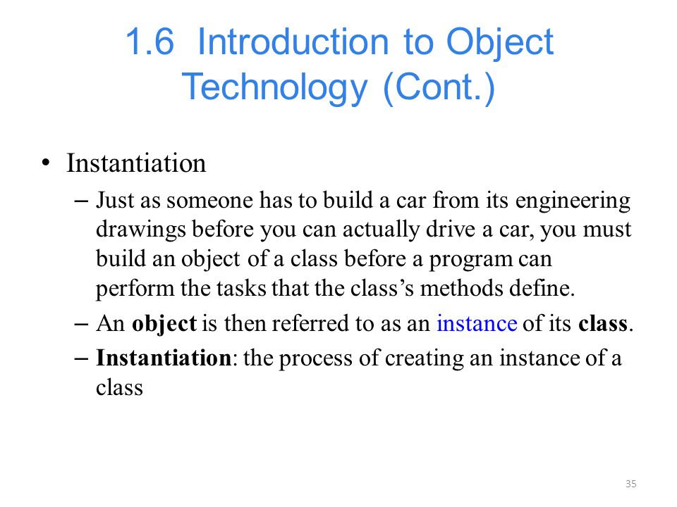 1.6 Introduction to Object Technology (Cont.)
