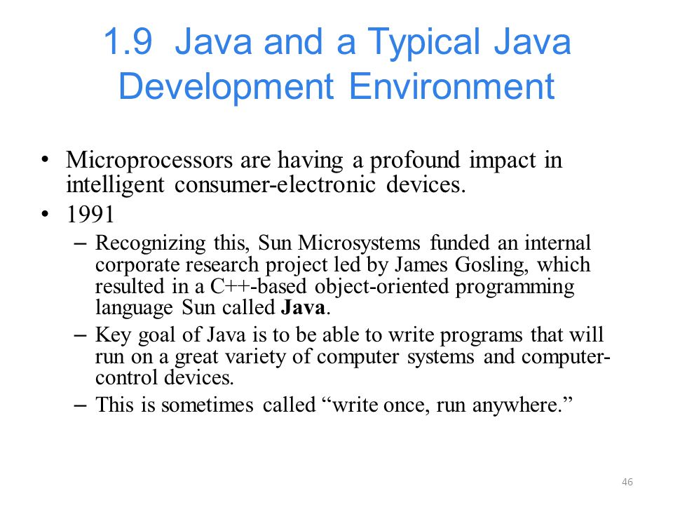 1.9 Java and a Typical Java Development Environment