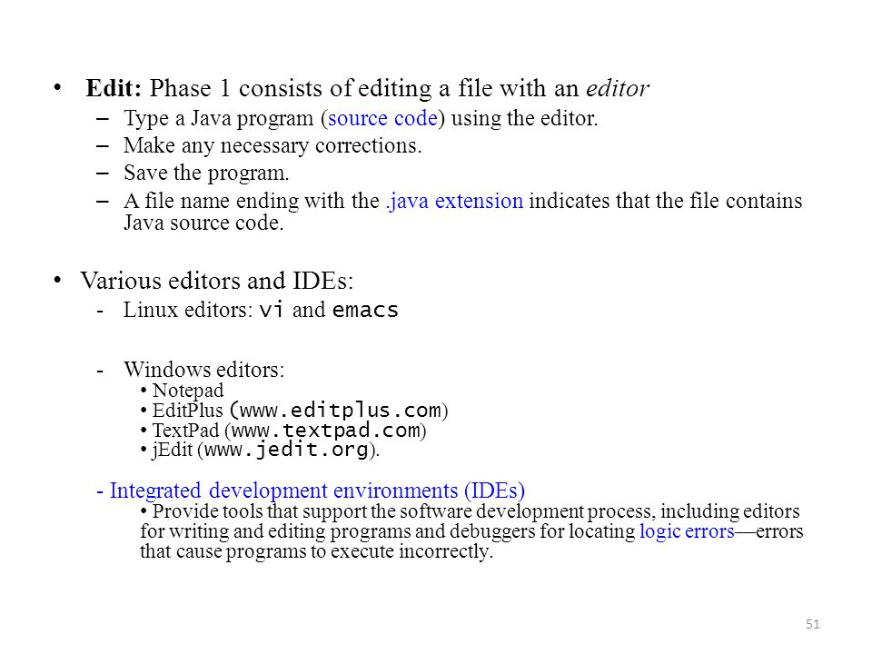 Edit: Phase 1 consists of editing a file with an editor