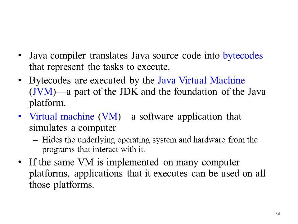 Virtual machine (VM)—a software application that simulates a computer