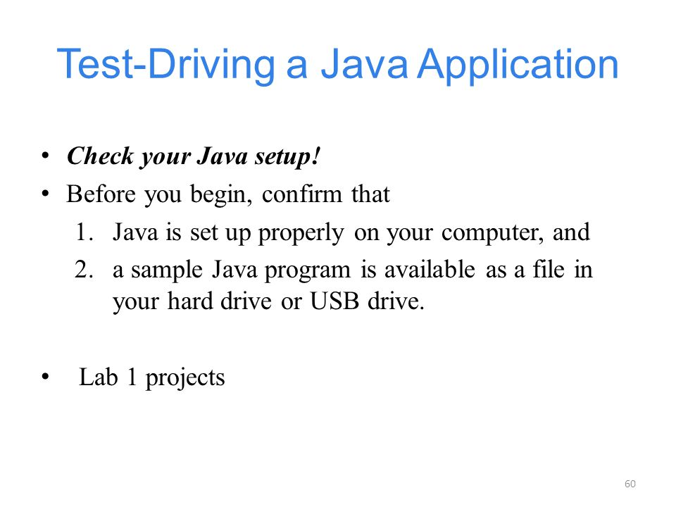 Test-Driving a Java Application