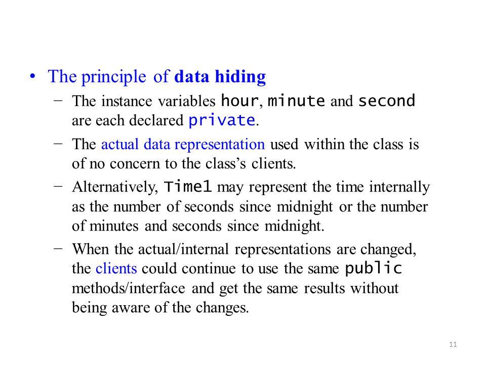 The principle of data hiding