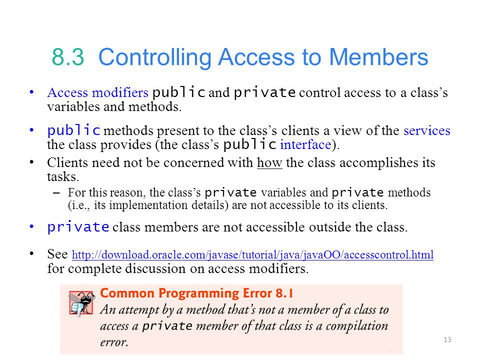 8.3 Controlling Access to Members