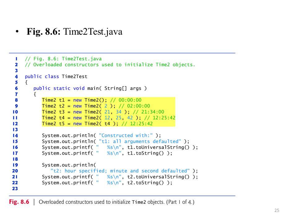Fig. 8.6: Time2Test.java