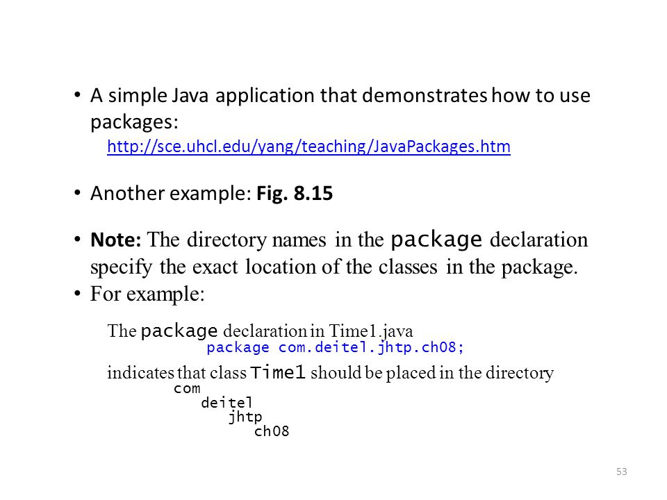 A simple Java application that demonstrates how to use packages: