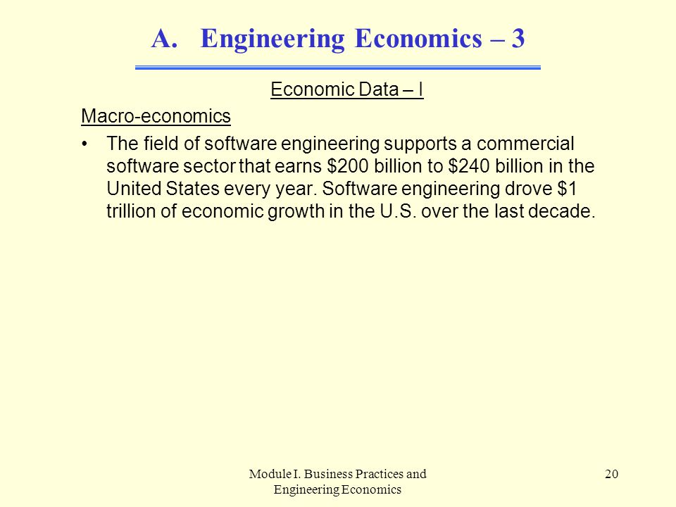 Engineering Economics – 3