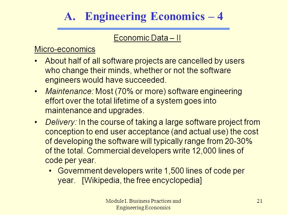 Engineering Economics – 4