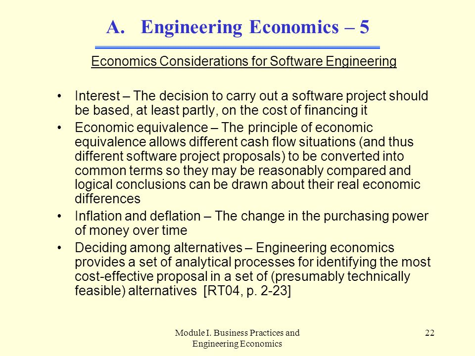 Engineering Economics – 5