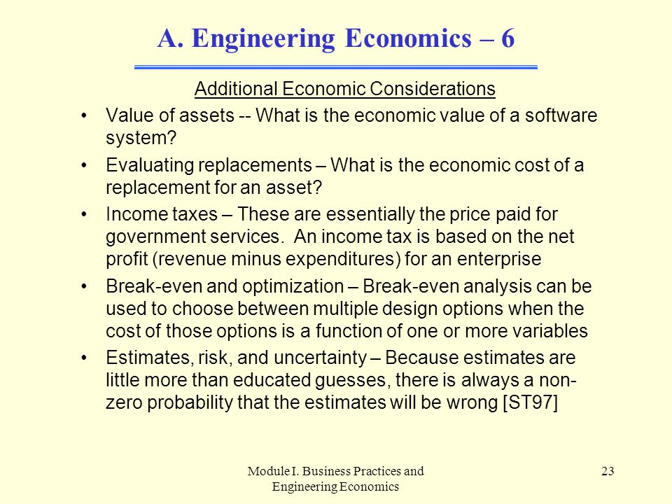 Engineering Economics – 6