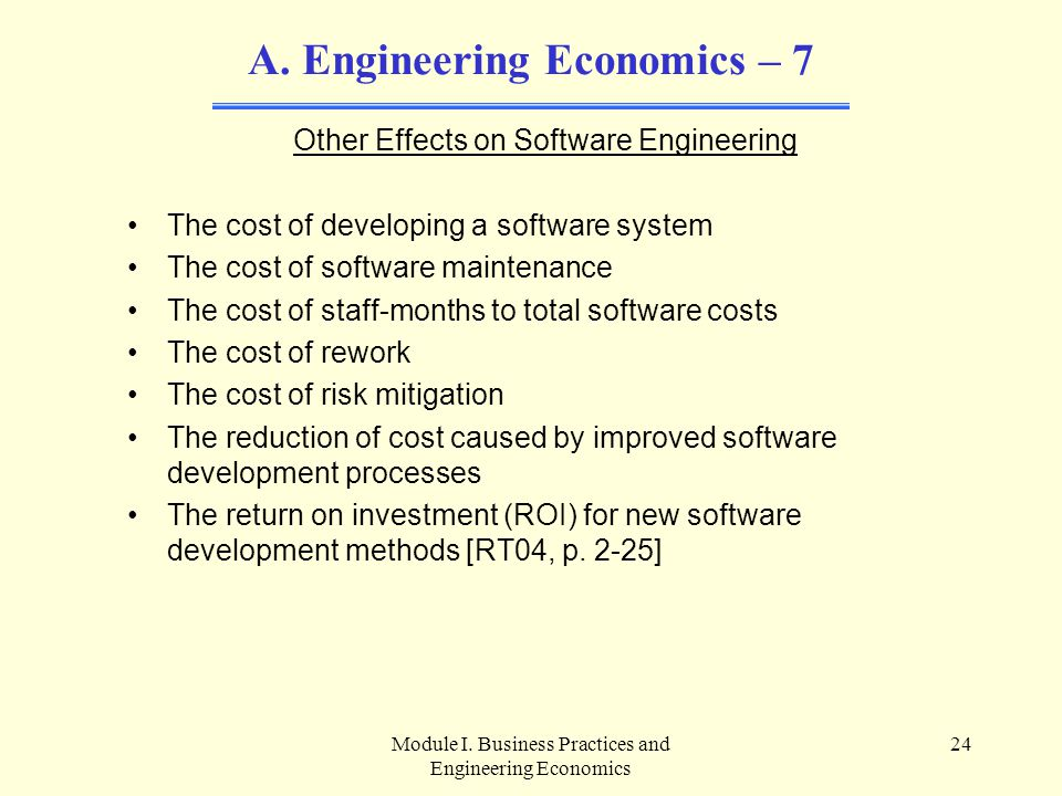 Engineering Economics – 7