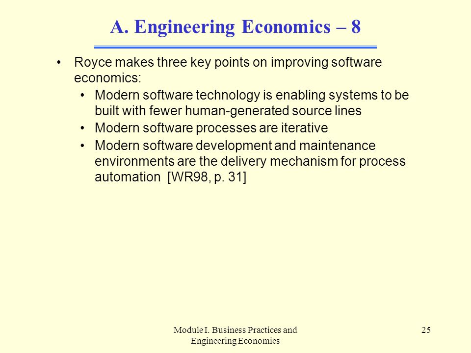 Engineering Economics – 8
