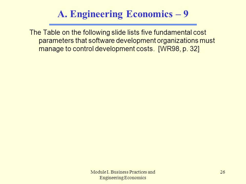 Engineering Economics – 9